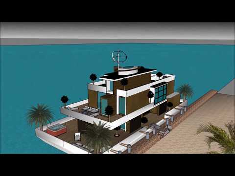 Incredible floating home design architecture in Barcelona SPAIN eco houseboats as a sanctuary
