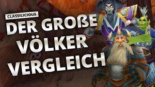 Classilicious - Guide: Der große Völkervergleich | World of Warcraft: Classic