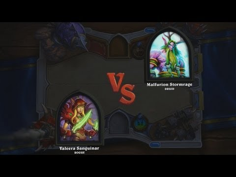 Hearthstone: Heroes of Warcraft - Rogue vs. Druid