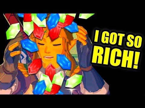 100,000 Rupee - RICH LINK! - Rupee Farming in Legend of Zelda Breath Of The Wild