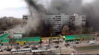 Крупный пожар в Самаре Ново-Вокзальная Фадеева