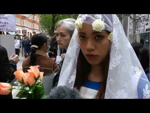 KANLUNGAN joins protest against family immigration rules in UK on 9 July 2012