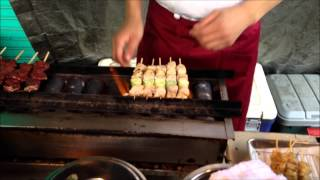 My all-time favorite Japanese food --- negima yakitori (ねぎま焼鳥) -- Tokyo, Japan
