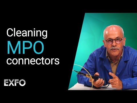 Inspecting and cleaning MPO connectors | Fiber optic tutorial