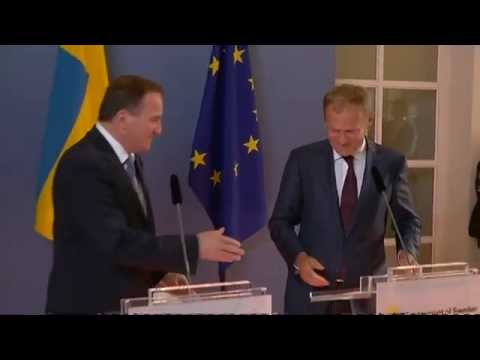 President Tusk meets PM of Sweden