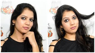 100 rs MAKEUP CHALLENGE    full face makeup under 100rps   smokey eyes    TipsToTop By Shalini