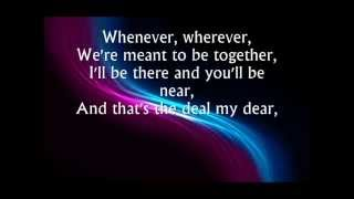 Shakira - Whenever Wherever Lyrics Video