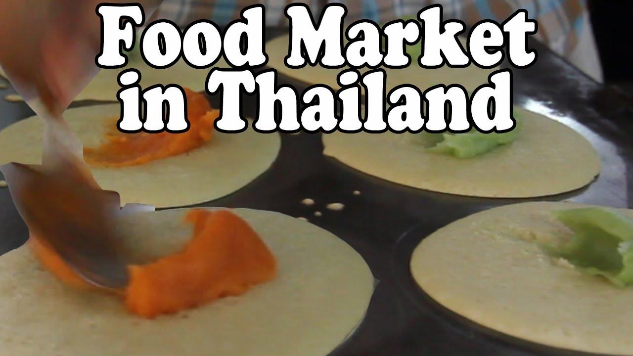 A Walk Around A Thai Food Market in Thailand  Food Market in Surat Thani
