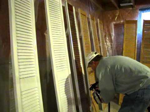 Spray Painting Shutter Doors Youtube
