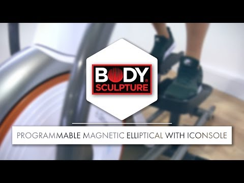 Body Sculpture -  Foldable Programmable Magnetic Elliptical with iConsole | BE7312G