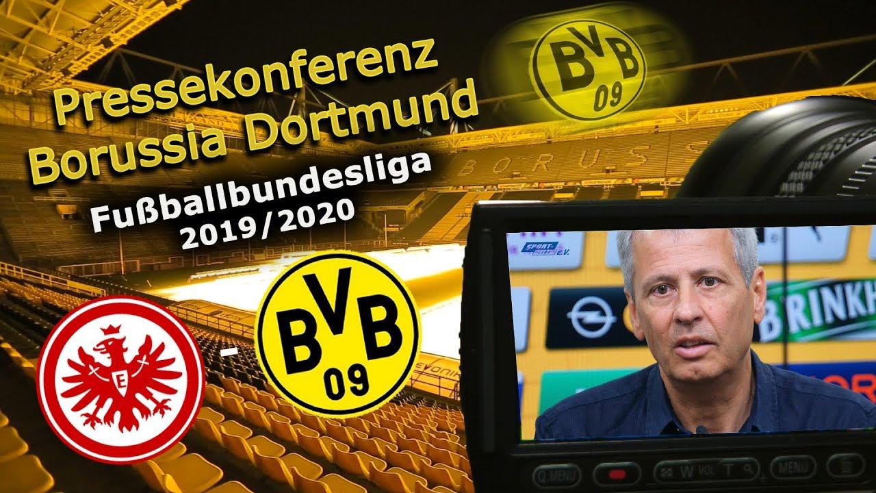 SG Eintracht Frankfurt - Borussia Dortmund: Pk mit Lucien Favre und Michael Zorc