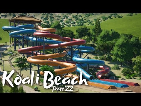 Planet Coaster - Koali Beach (Part 22) - Water slides! (ft. Deladysigner & Rudi Rennkamel)