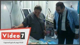 مجدى عبد الغنى لأحد أطفال أبو الريش: