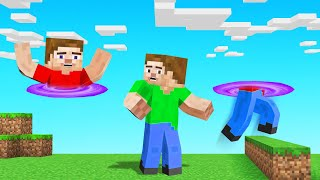 MINECRAFT But JUMPING = TELEPORT!