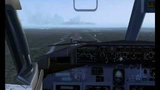 FS2004 ILS landing in Spain