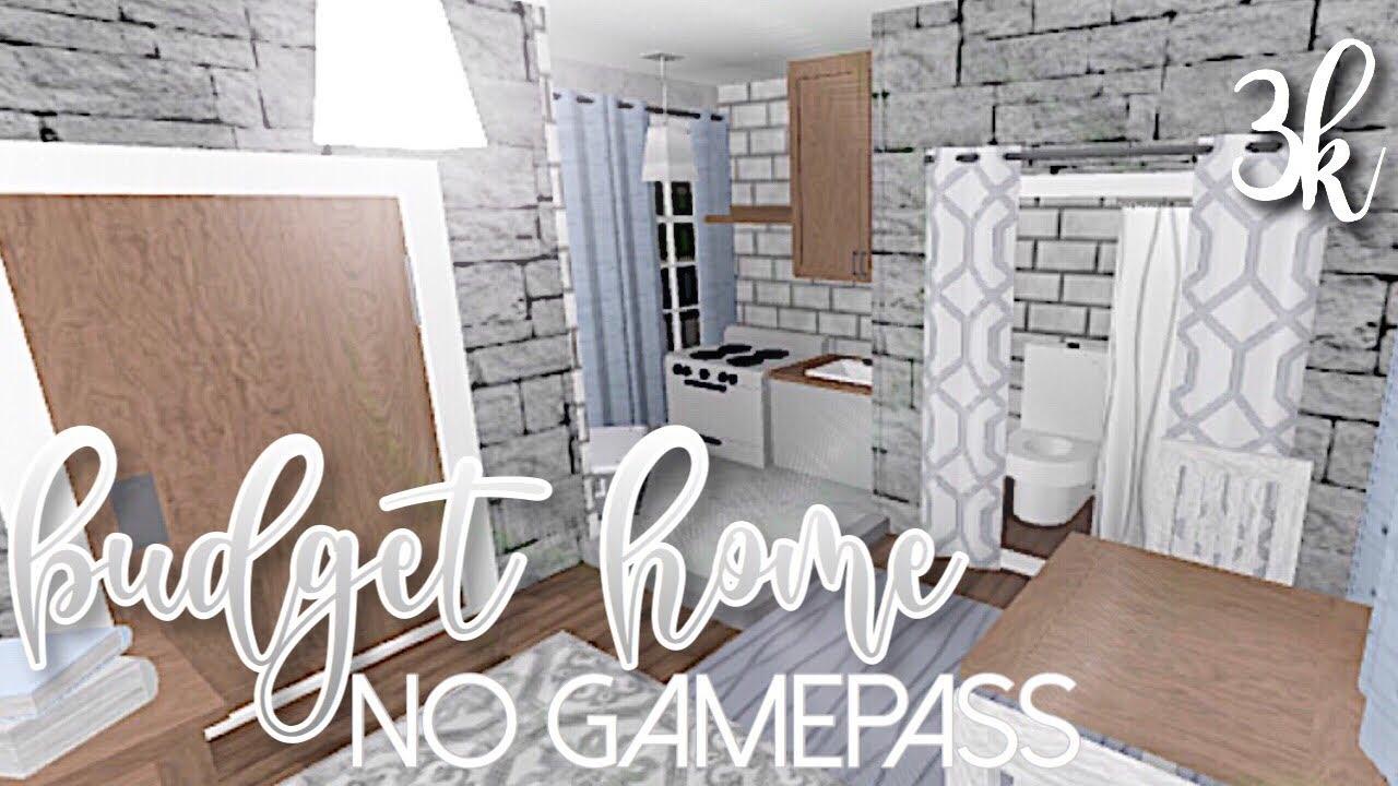Bloxburg No Gamepass Budget Home 3k Youtube