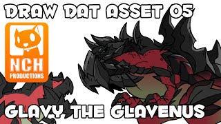 Draw Dat Asset: Monster Drawing, Glavy the Glavenus