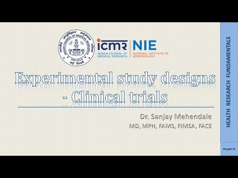 Experimental study designs: Clinical trials