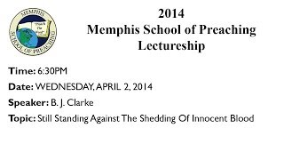 6:30PM - Singing & Still Standing Against The Shedding Of Innocent Blood - B. J. Clarke