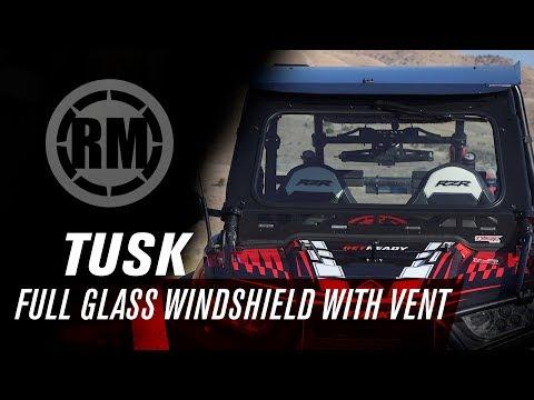 Tusk UTV Full Glass Windshield with Vent | Polaris RZR