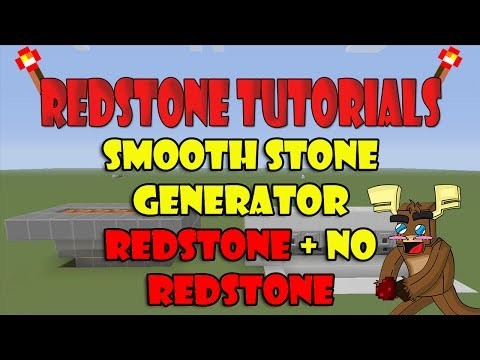 Smooth Stone Generator No Redstone + Redstone