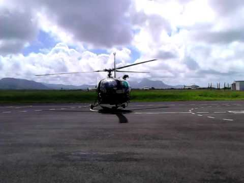 Helicopter in mauritius