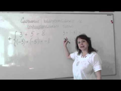 Видеоурок сложение и вычитание положительных и отрицательных чисел
