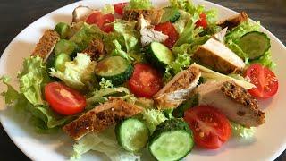 Летний САЛАТ за 2 минуты, Худеем вкусно, Идеальный ужин , ПП Рецепты, Салат с курицей
