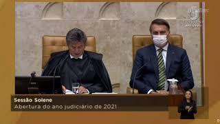 Ao lado de Bolsonaro, Fux fala contra negacionismo da pandemia