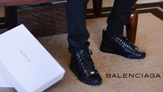 Balenciaga Arena High Sneakers Noir Review 2015