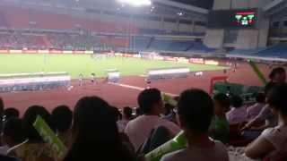 中国で初サッカー観戦