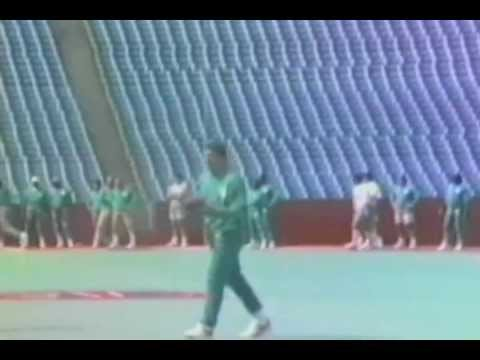 Dan Marino, Miami Dolphins Quarterback, completes a ridiculous pass
