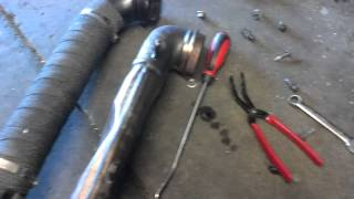installing the duramax Downpipe part 2