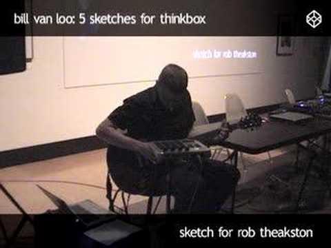 Bill Van Loo: Sketch for Rob Theakston (live at AGW)
