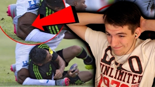 REACTING TO THE TOP 10 MOST HORRIFIC FOOTBALL INJURIES! (18+)