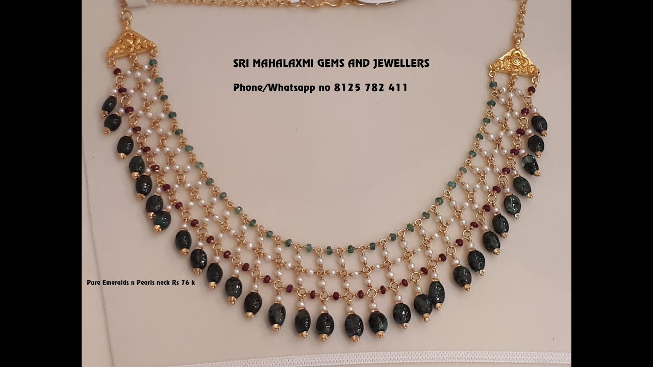 bf6aae1ae4f115 EPISODE=704 Light weight Gold Pearl Short Necklace Designs Weight 7Grams