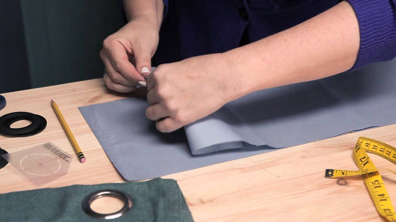 Making curtains with grommets - How To Make Eyelet Curtains Making Modifying Curtains