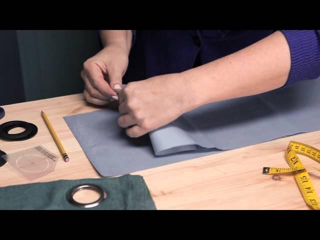 How to Make Eyelet Curtains : Making/Modifying Curtains
