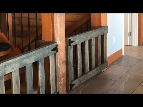 DIY: $25 Wood Baby Gates