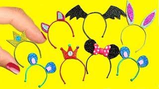 DIY Miniature Doll Mini Headband  / Hairband Tutorial -  Easy Doll Crafts