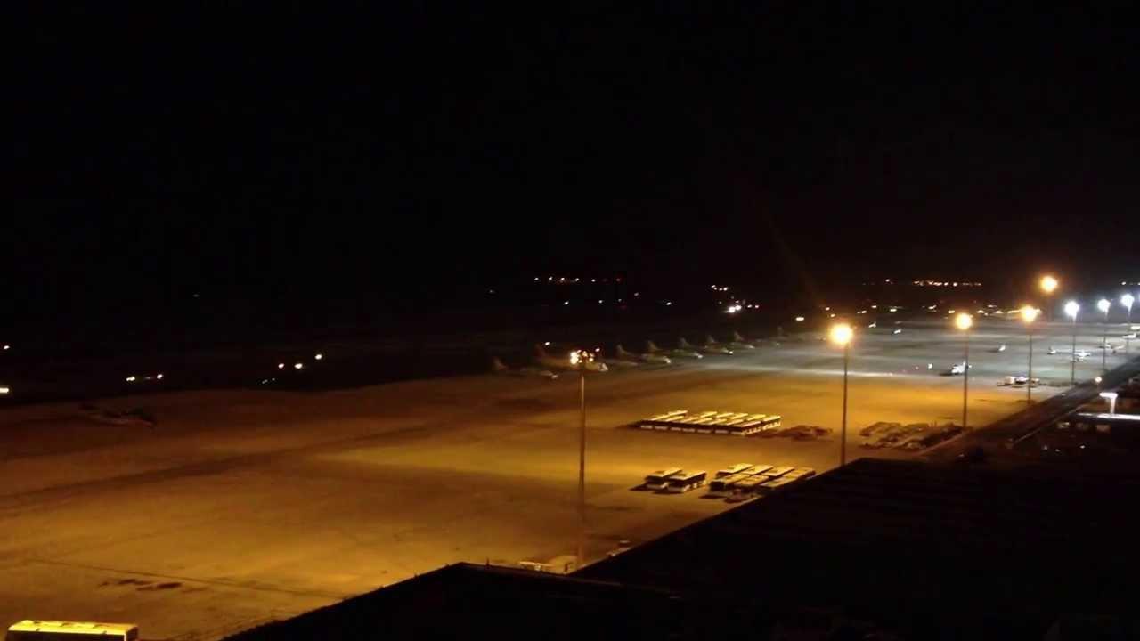 Aeroporto Gran Canaria : Decollo aereo dalla torre di controllo dell aeroporto