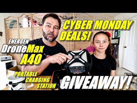 ENERGEN DroneMax A40 GIVEAWAY! Portable Drone Charge Station & CYBER MONDAY Deals! 👍👍🍻
