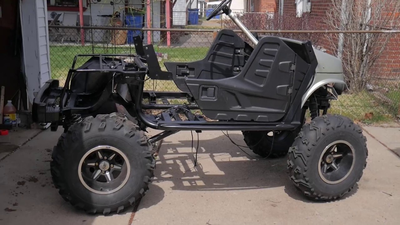 Custom Golf Cart Project and predator 420 - YouTube on survival trailer, survival dune buggy, survival chain saw,