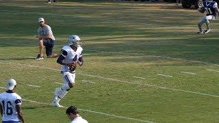 Dak Prescott in QB drills and 11vs11 at Dallas Cowboys Training Camp 8/11