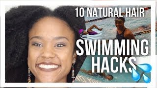 10 Natural Hair Swimming Hacks from a Competitive Swimmer   Hairstyles, Products, Secrets