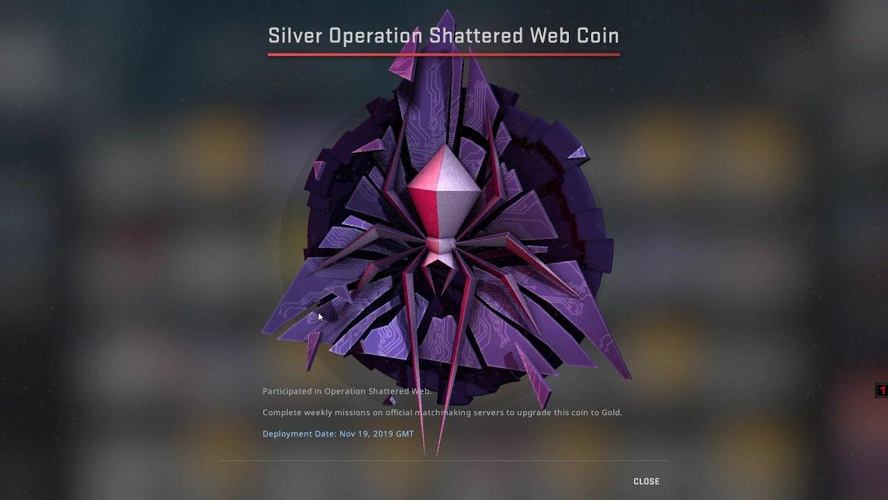 cs go shattered web coin