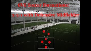 6V6 Soccer 2 1 With Defensive Midfielder Shape And Tactics