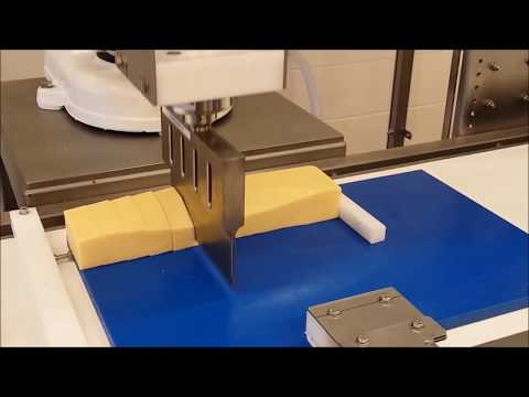 robotic cutting   3D profiling and portioning cheese