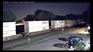 Repeat youtube video Slow NS Intermodal Train Meet With Amtrak Lake Shore Limited 48 In Chesterton, IN 6-10-16