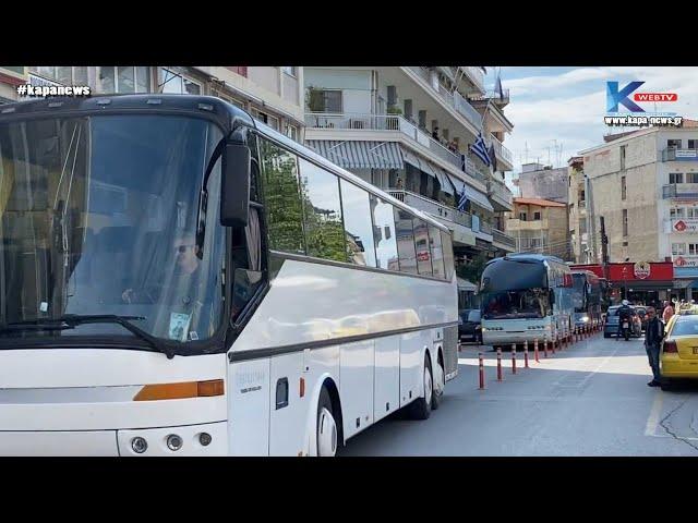 Kapa-News: Κατερίνη   Διαμαρτυρία ιδιοκτητών τουριστικών λεωφορείων